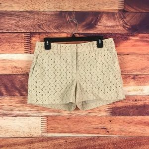 Cynthia Rowley Beige Cream Lace Shorts Size 6